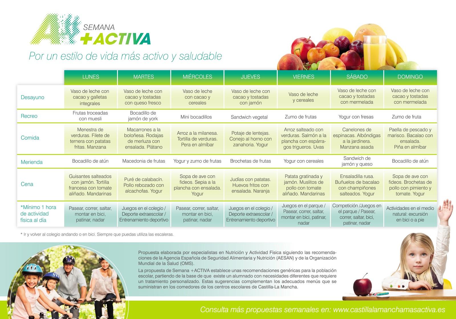 Menu semanal saludable todo salud for Cocina 1 dia para toda la semana